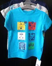 5cb64ad9 MOTHERCARE BOYS SUPERHERO 3 PACK T-SHIRTS SHORT SLEEVE TOP BLUE GREY 18-24m