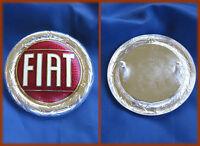 FIAT 124 SPIDER X1/9 - STEMMA LOGO BADGE 57MM BORDO ARGENTATO