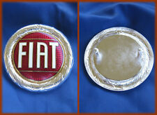 FIAT 124 SPIDER X1/9 - STEMMA LOGO BADGE 57MM BORDO ARGENTATO