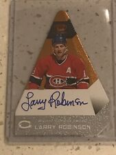 2013-14 Panini Crown Royale Hockey Larry Robinson On Card Autograph Canadiens