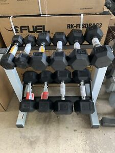 New HEX Rubberized Dumbbells. Pick A Set. Single Or Pair Available. Ships Free.