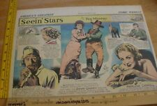 Shirley Temple James Cagney Seein' Stars Feg Murray 1930s Sunday color panel 4b