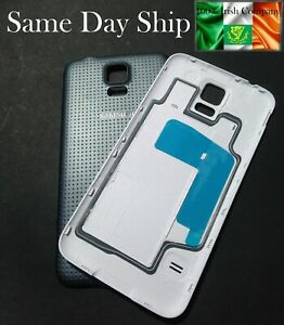 For Samsung Galaxy S5 I9600 G900F Black Battery Back Rear Cover Case Door