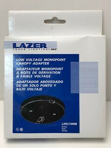 Halo Lazer LZR210MB BLACK Low Voltage Monopoint Feed Cooper Track Lighting NEW