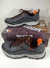 FILA Mens At Peake Gray Orange Running Training Athletic Shoes Size 9 ZD-771