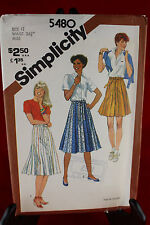 Simplicity 5480 Size 12 Sewing Pattern