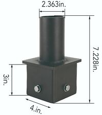 Tenon Adapter  For 4 Inch Square Pole. Steel Lighting Mount. Pole Bracket.