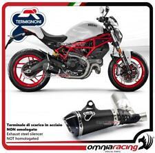Termignoni terminale scarico acciaio nero racing per Ducati Monster 797 2017>