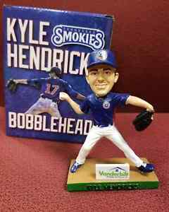 KYLE HENDRICKS  2018 TENNESSEE Smokies SGA Bobblehead CUBS AA Affiliate 7-15-18