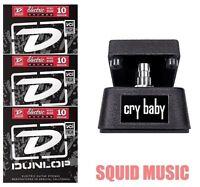 Jim Dunlop Cry Baby Mini Wah Pedal CBM95 Half Size ( 3 SETS OF GUITAR STRINGS )