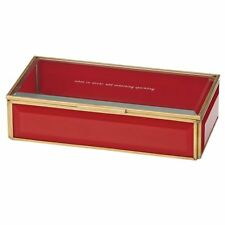 kate spade new york Out Of The Box Lenox Jewelry Box -  Red ~ HTF ~ NIB