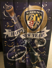 Baltimore Ravens Banner House Flag 27x40 Says Happy New Years (New Other)