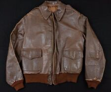 Original WWII A-2 Leather Flight Jacket Vintage