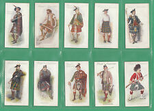 JOHN PLAYER & SONS - VERY  RARE  SET  OF  25  HIGHLAND  CLANS  CARDS  -  1907