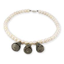 Collar Mujer Perlas Akoya y Turquesas en Plata de Ley 925
