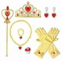 Yaphets Princess Belle Dress Up Toys,7 Pcs Girl's Jewelry Dress Up Play