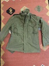 VIntage Vietnam Era US Army M-1965 M65 Cotton Field Coat Military Jacket S Short