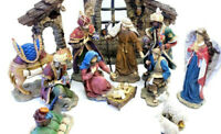 New 2020 HUGE 16 Piece Christmas Nativity Handpainted INCREDIBLY DETAILED SET