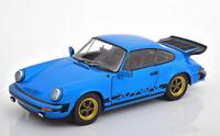 PORSCHE 911 CARRERA BLUE 1.18 SCALE MODEL FANTASTIC DETAIL CLASSIC DIECAST BOXED