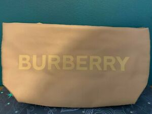 Burberry makeup/cosmetic Bag Beige 24 x 13cm