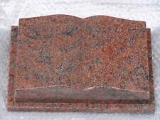 "Grabstein Buch Granit /""Himalaya/"" 30 x 20 x 8 cm"