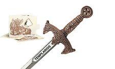 Miniature Templar Sword (Bronze) by Marto of Toledo Spain 5212.3S