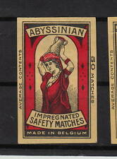 Ancienne étiquette   allumettes  Belgique  A549  Femme Porteuse d'eau 3