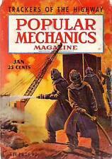 1939 Popular Mechanics January-Ocean Liners; Oil Fires