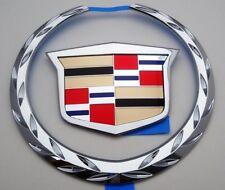 "Cadillac DTS 2006 2007 2008 2009 2010 2011 TRUNK Emblem Chrome ""WREATH & CREST"""