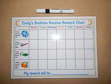 Bedtime Routine Reward Chart - Children's personalised reward chart - Reusable