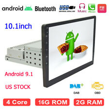 Android 9.1 Single 1Din Car Stereo 10.1 in Touch Screen FM Radio GPS Mirror Link