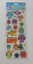 FUN STICKERS -FUNKY OWLS STICKERS FOR CARDS AND CRAFTS