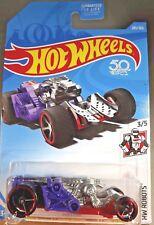 2018 Hot Wheels #285 HW Robots 3/5 SPECTOR Purple Red w/Black OH5 Spokes Wheel
