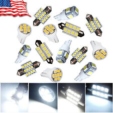 14x White LED Interior Package Kit For T10 31mm Map Dome License Plate Lights Ou