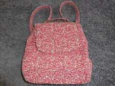 The SAK tiny cinch sack backpack cream red flowers bag purse EUC