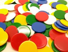 Counters 22mm diameter. Mixed and single colours. Tiddlywinks x100