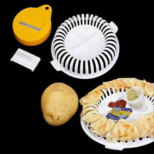 Microwave Oven Fat Potato Chips Maker Fruit Potato Crisp Chip Slicer Snack MakNM