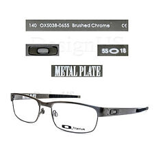 New Oakley METAL PLATE OX5038-0655 Brushed Chrome Titanium 55-18-140 Eyeglasses