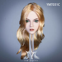 YMTOYS YMT031C 1/6 Long Curly Hair Alice Head Sculpt 12'' Phicen Figure Head Toy