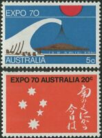 Australia 1970 SG454 World Fair Osaka set MNH