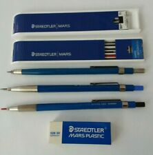 3 - Staedtler Mars Technical 780 pencils plus Graphite and erasure lot