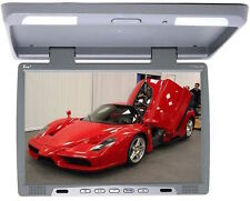 "TView T176IR Gray 17"" Car Video Flip Down Overhead Monitor - IR Transmitter"