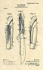 Official Marble's Safety Folding Hunting Knife US Patent Art Print - Antique 329