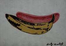 Fine unique Pop Art painting – banana, signed Andy Warhol w COA