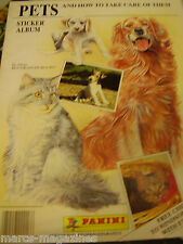 RARE PANINI STICKER ALBUM PETS & HOW TO TAKE CARE OF THEM DOGS CAT EMPTY UNUSED