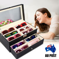 12 Slot Eyeglasses Display Box Sunglasses Storage Case Organizer Holder Gift