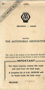 AA MembershipRoute Planner Kenilworth Harlech  Vintage Old Member 1950-60's