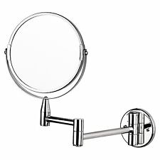 Top Home Solutions Magnifying Wall Mounted Makeup Mirror Extending Shaving 7