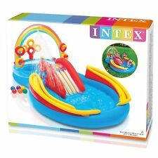 Intex 117-by-76-by-53-Inch Rainbow Ring Inflatable Swimming Pool Play Center