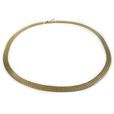 Klassisches Echtgold Collier Halskette 585 Gold Kette L 43,5 cm Necklace